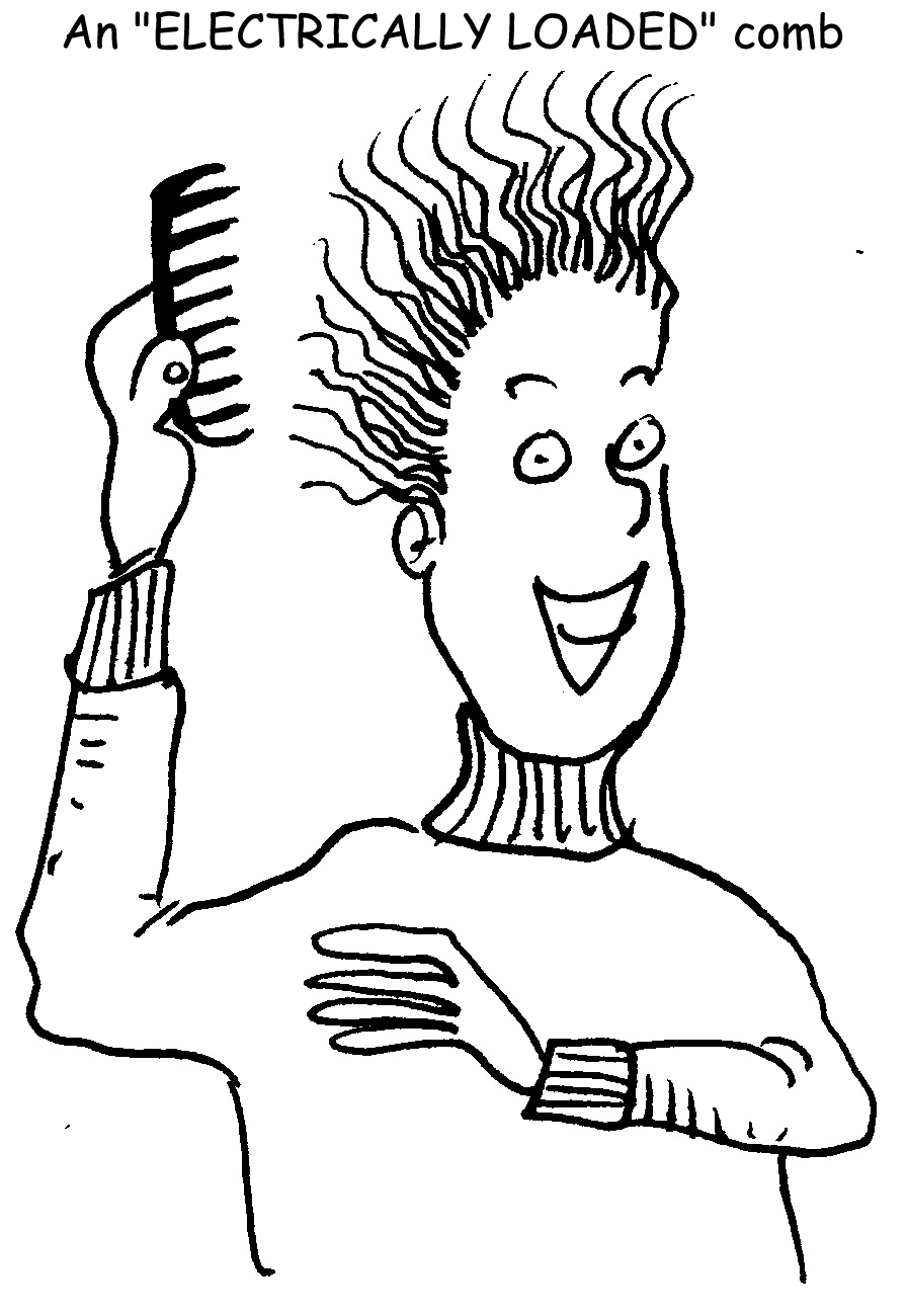 electrostatic charge clipart