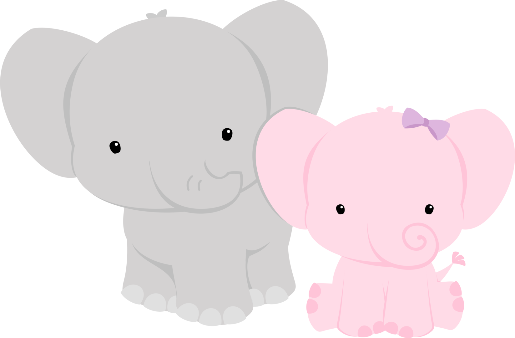 HD Baby Shower Elephant Png.