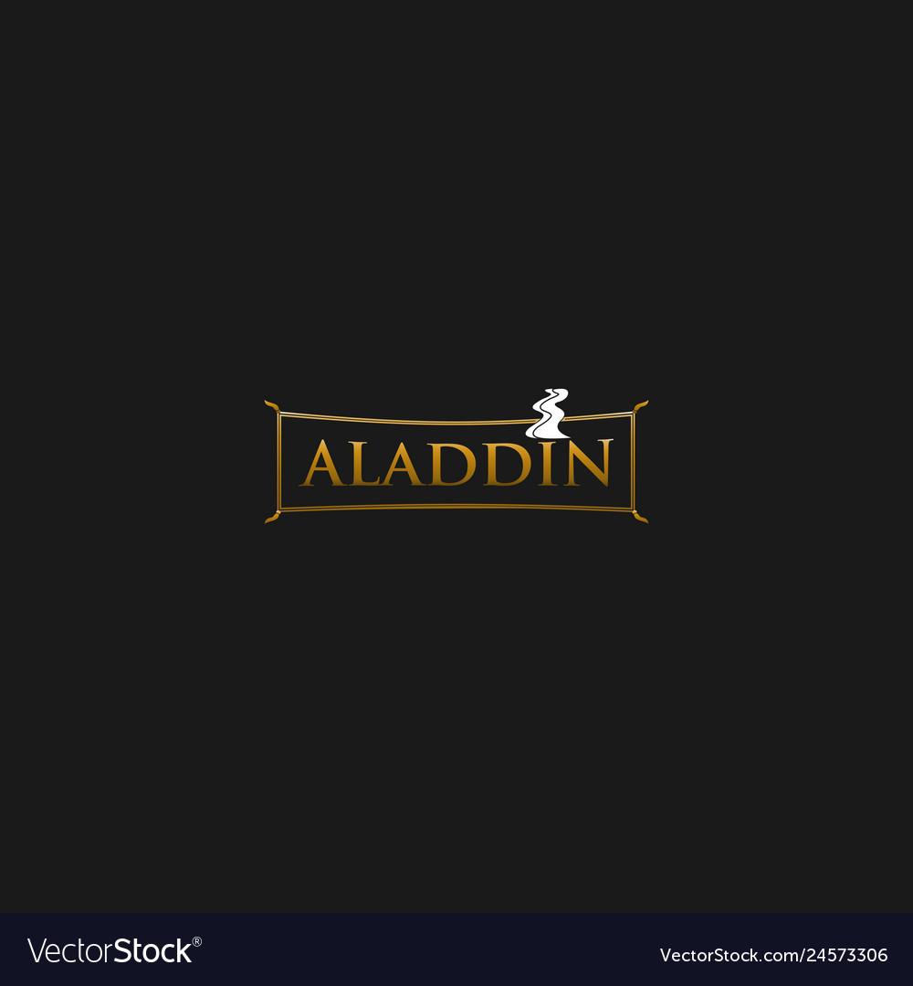 Carpet aladdin elegance creative business logo.