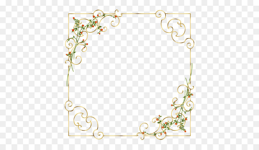 Clip Art Elegant Border Of Flowers And Plants Png Download 506.