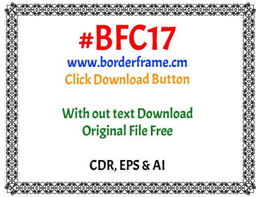 Black Elegant Border with flower frame design elegant border clipart ».