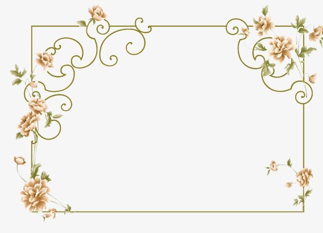 Elegant Border, Elegant, Frame, Flowers PNG Transparent Image and.