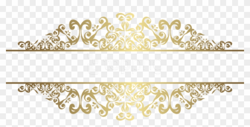 Free Png Download Gold Decorative Element Png Clipart.