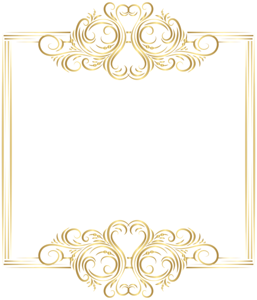 Elegant Gold Borders Png Vector, Clipart, PSD.