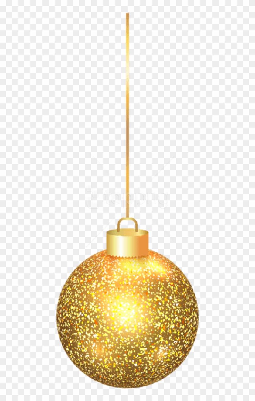 Elegant Christmas Gold Ball Png.