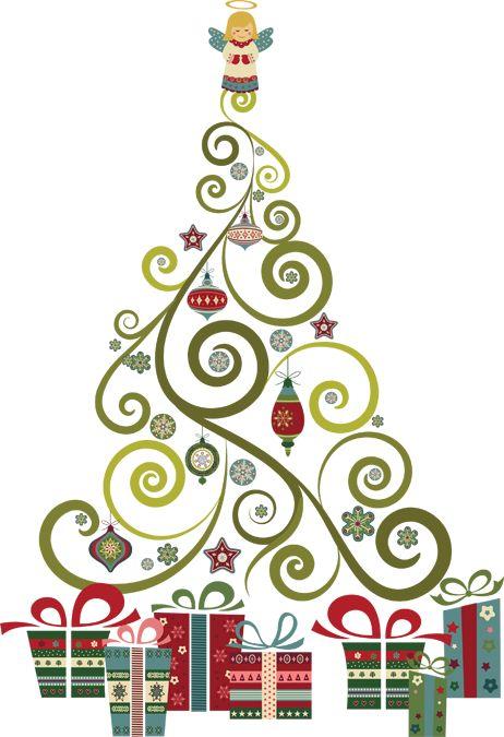 Swirly Christmas Tree.