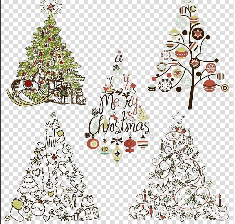 Santa Claus Christmas tree Christmas ornament , Elegant.