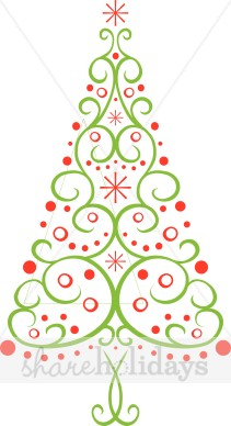 Fancy Christmas Tree Clipart.