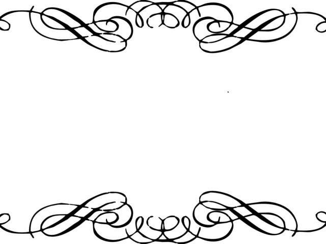 Elegant border clip art.