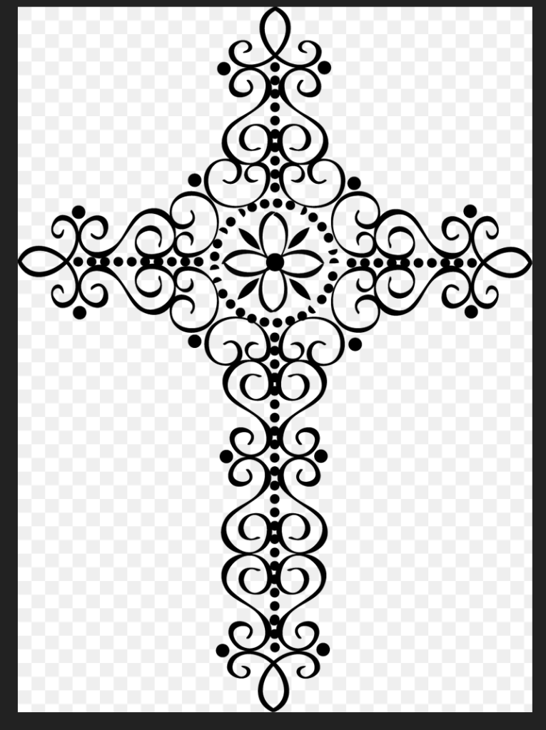 Bridget Elegant Cross Clipart svg.