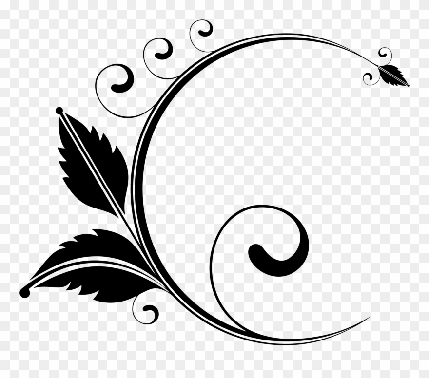 Elegant Floral Designs Art Drawing Visual Design Elements.