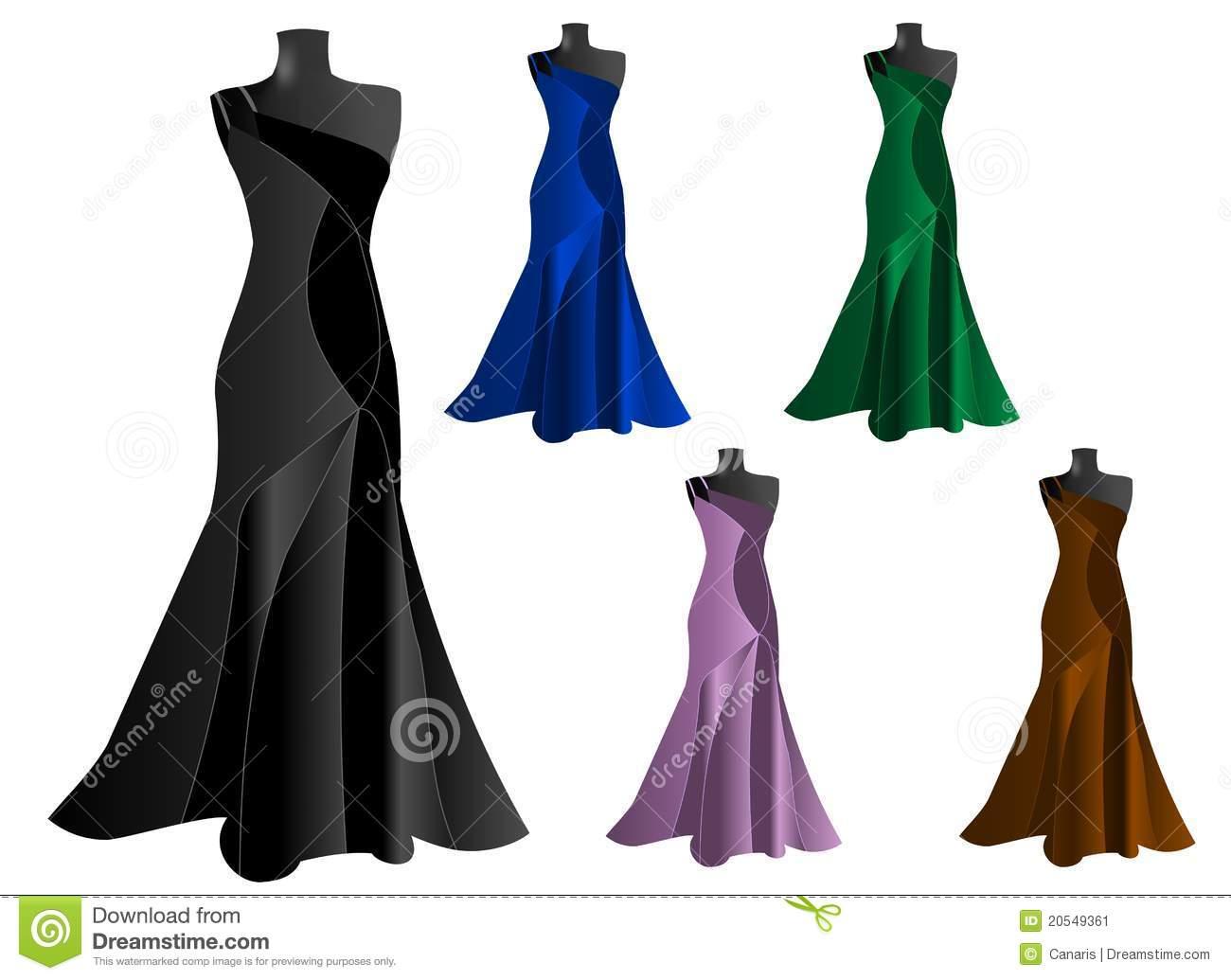 Dresses Stock Illustrations.