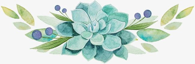 Fresh And Elegant Floral Watercolor Number PNG, Clipart, Beautiful.