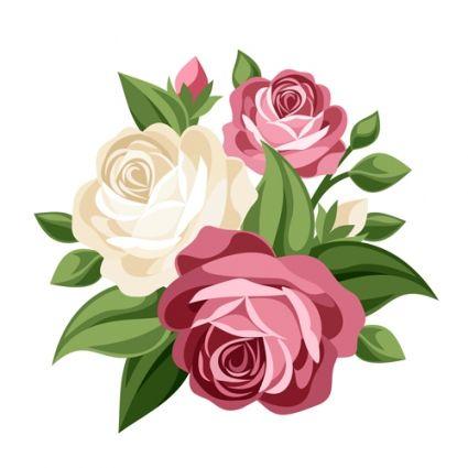 elegant flowers bouquet vector.