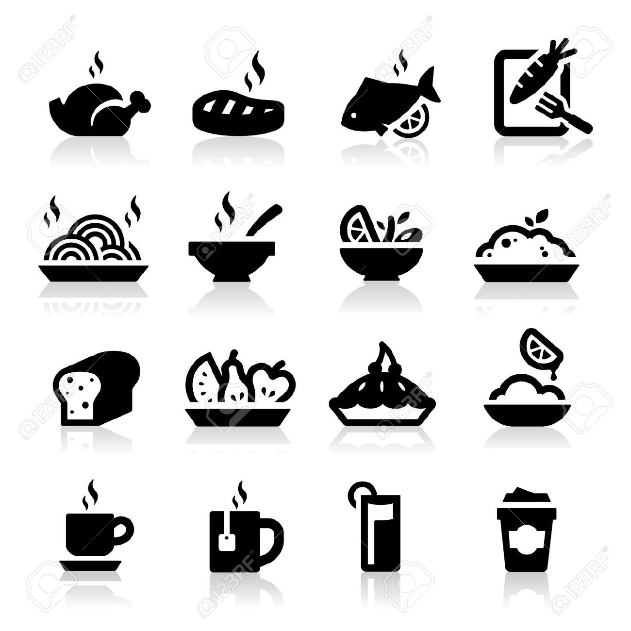 Elegant Food And Drink Clipart Images.