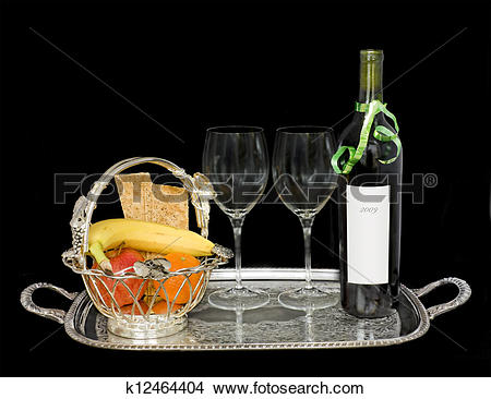 Stock Photo of Elegant food and drink service k12464404.