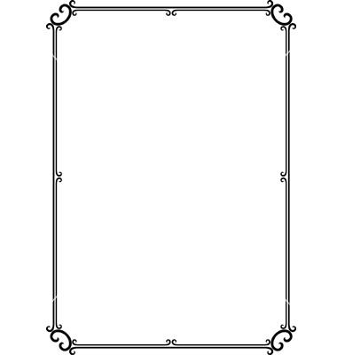 Elegant frame vector.