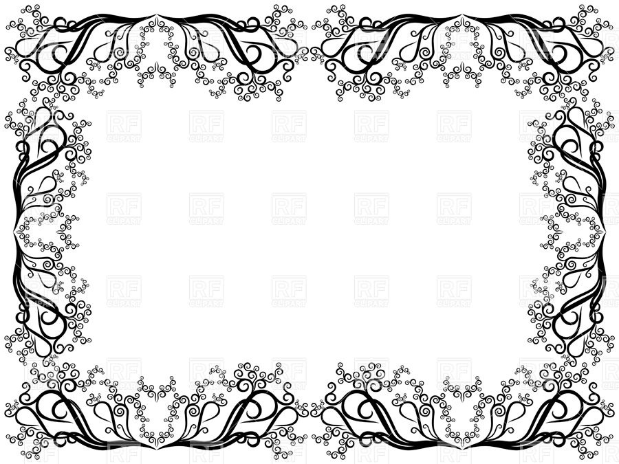 Elegant frame made of curly floral elements Stock Vector Image.