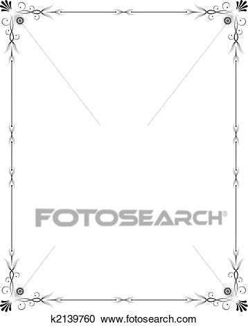 Elegant frame Clipart.