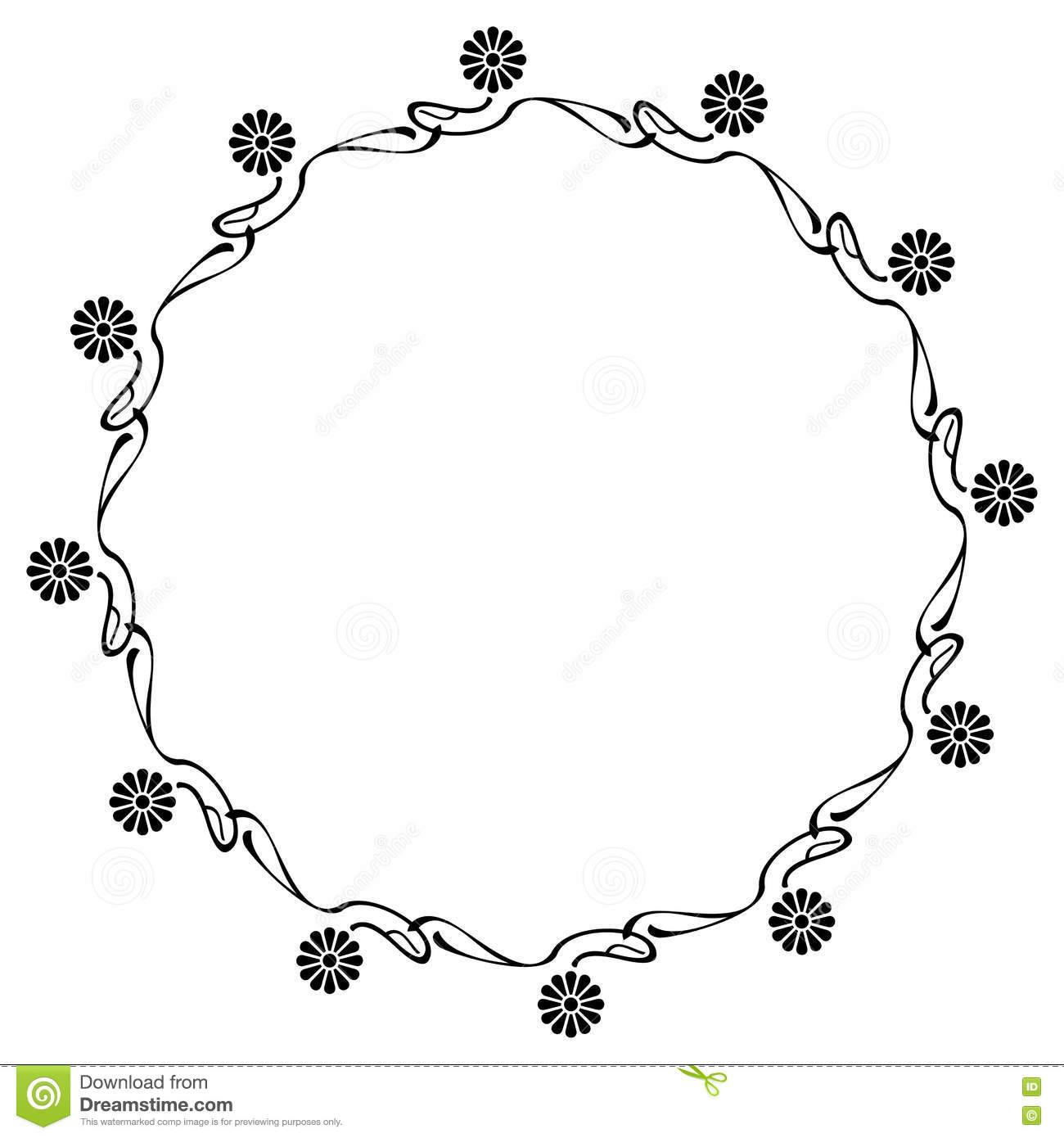 Abstract elegant frame. stock illustration. Illustration of free.