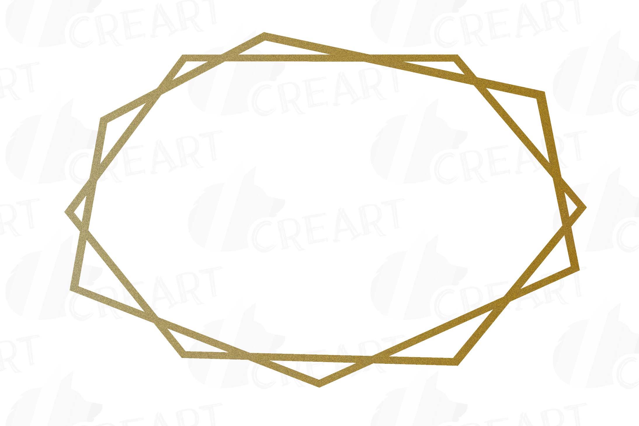 Glitter golden elegant wedding geometric frames png.