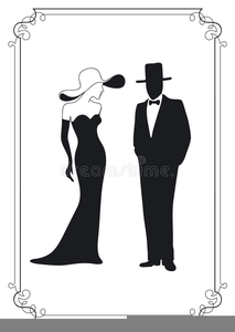 Free Clipart Elegant Lady.