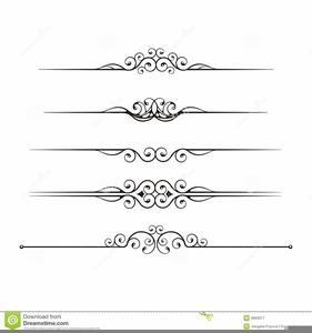 Elegant Lines Clipart.