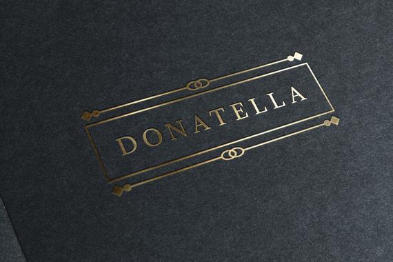 INSTANT DOWNLOAD, Gold Frame Logo, Fully Editable Logo.