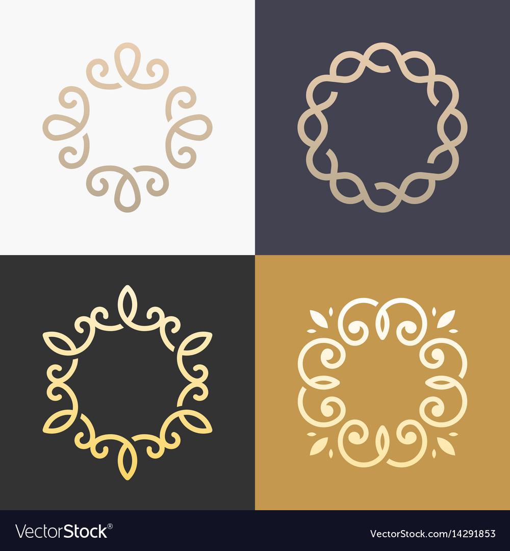 Monogram elegant logo icon design.