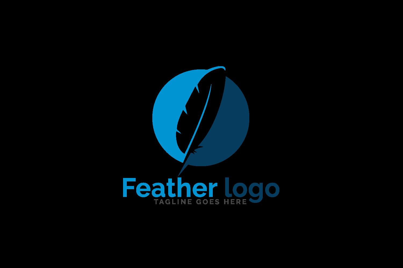 Feather elegant logo design..