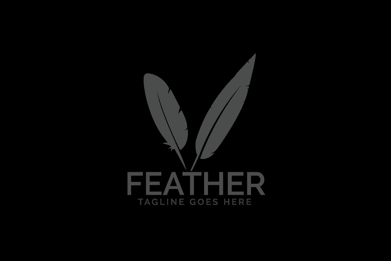Feather elegant logo..