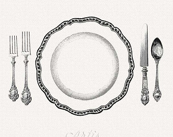 Fancy Table Setting Clipart.