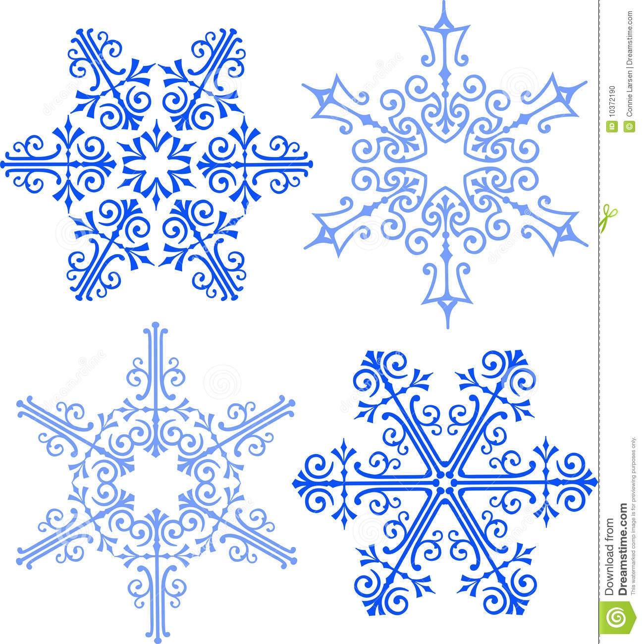 Elegant Snowflake Clipart.