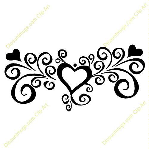 Elegant Swirl Designs Clip Art.