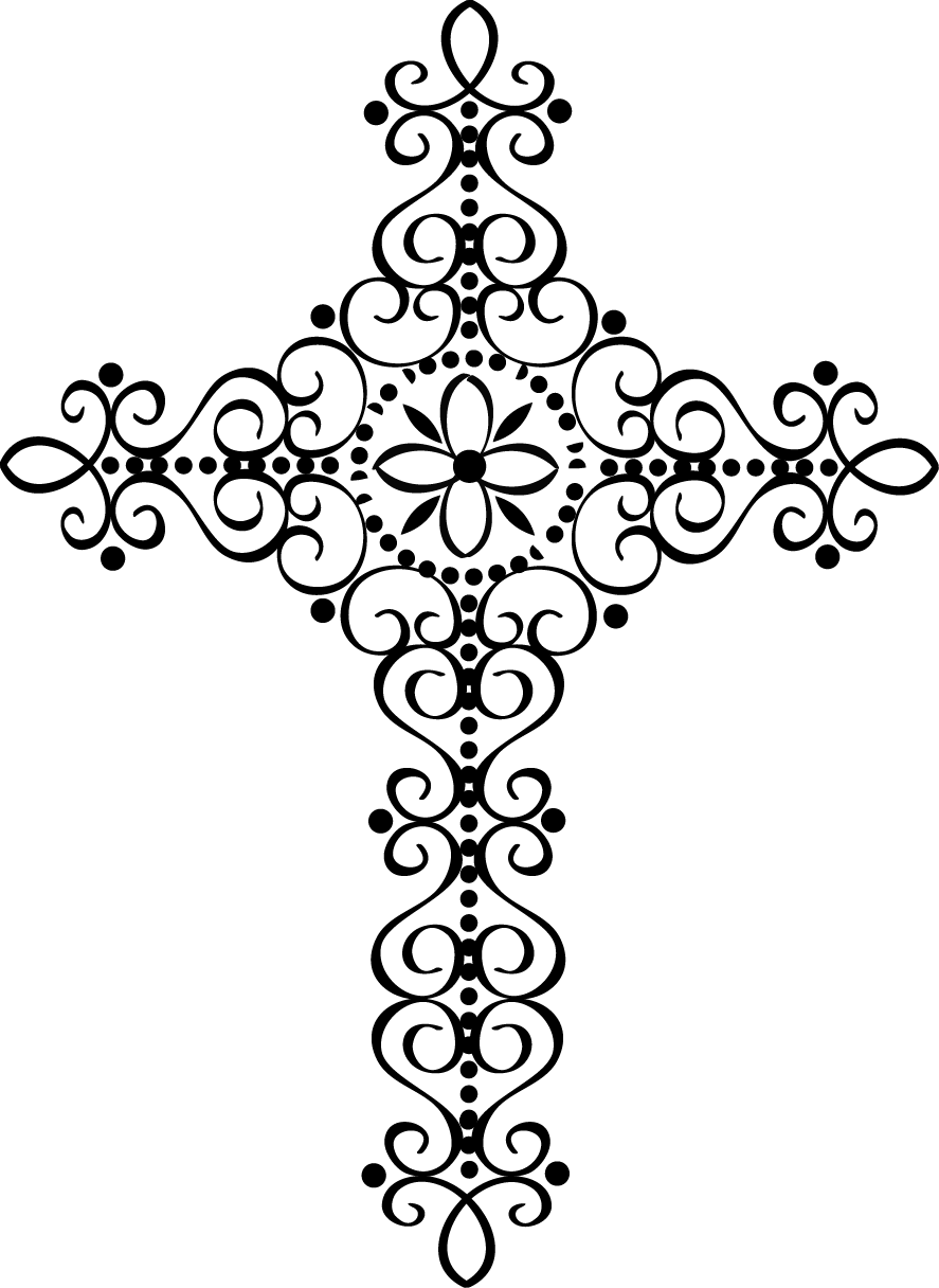Fancy cross clipart 2.