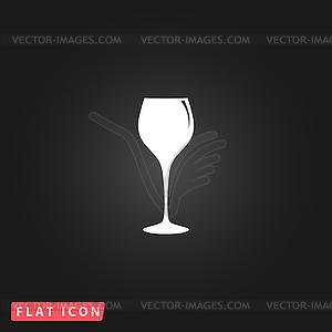 Elegant wine glass.