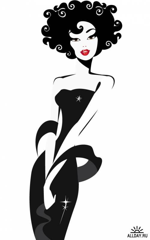 sophisticated lady clipart.