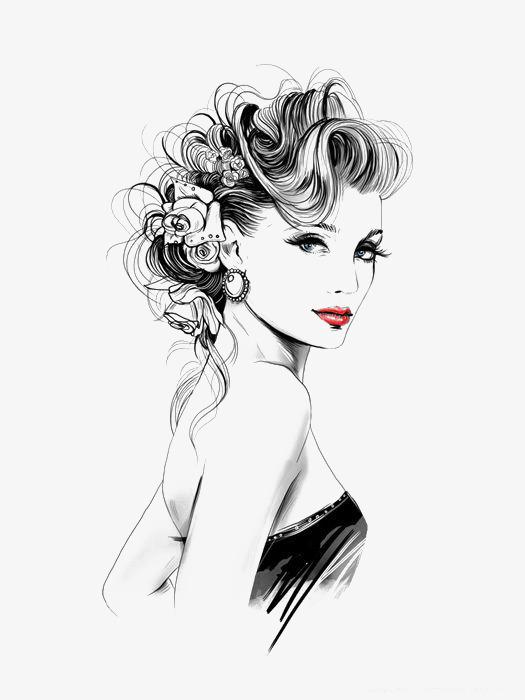 Fashion Elegant Woman, Woman Clipart, Fashion Clipart, Woman PNG.