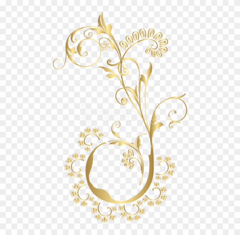 Free Png Gold Floral Element Png Images Transparent.