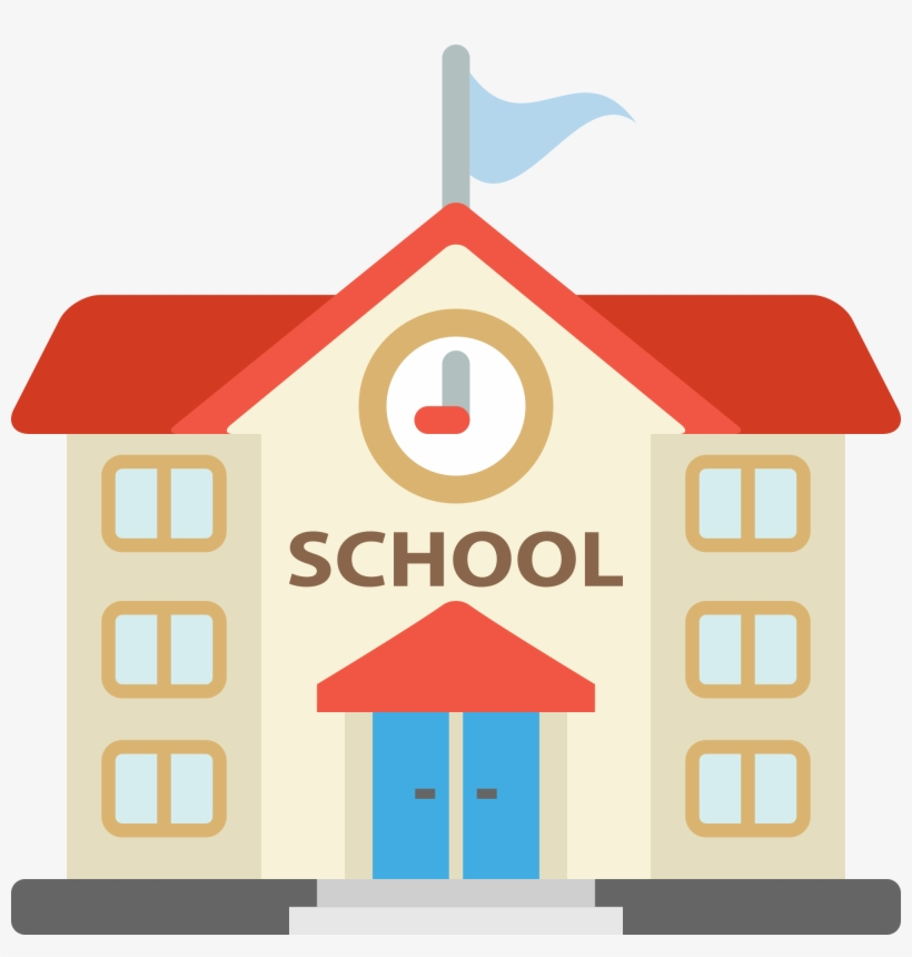 28 Collection Of Elementary School Building Clipart.