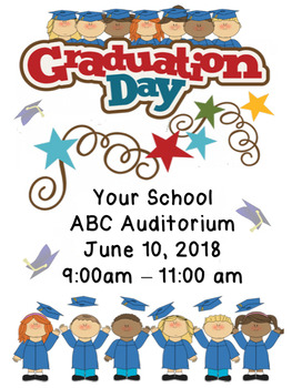 Graduation Day Flyer Template.