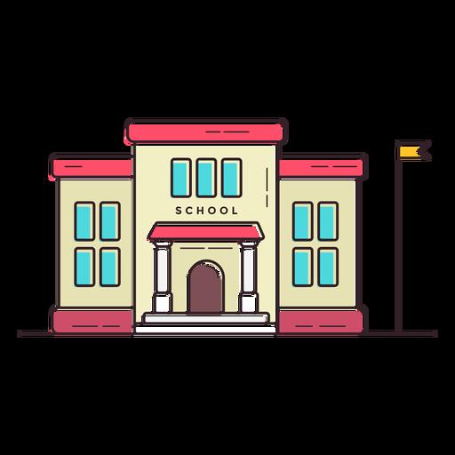 Elementary school building icon.