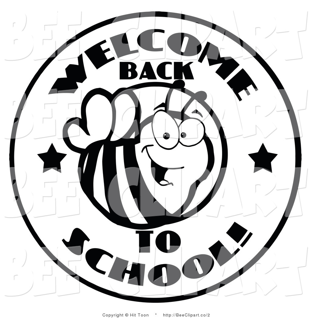 Black And White School Clip Art.