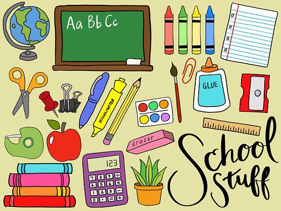 SCHOOL SUPPLIES CLIPART, clip art, school supplies, office.