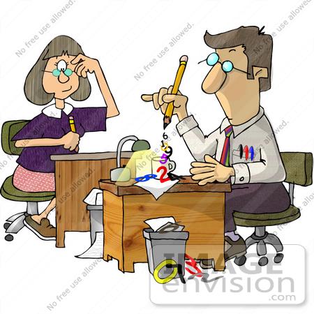 Elementary School Secretary Clipart.