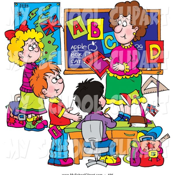 Elementary School Teacher Clipart for Elementary Students Learning.