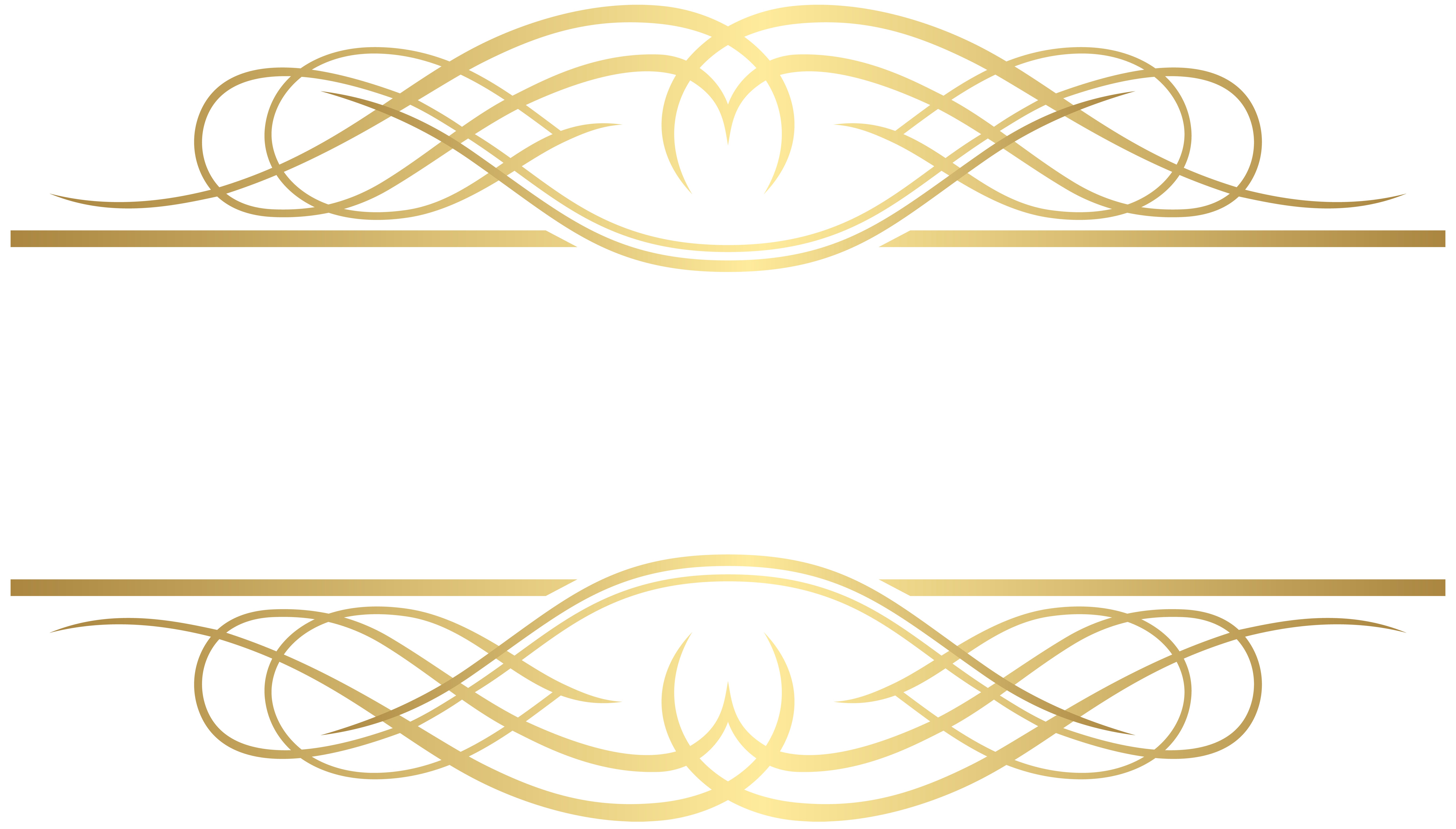 Deco Element Gold PNG Clip Art.