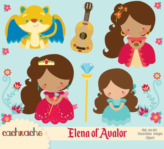 Elena of Avalor clipart PNG and JPG, high definition, instant download,  disney inspired princess party printables.