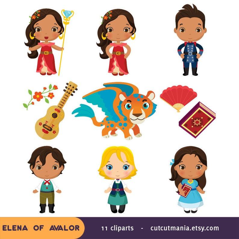 Elena of Avalor clipart, Elena of Avalor party, Elena clip art, Avalor  clipartset, Disney Elena clipart, png 300 dpi.
