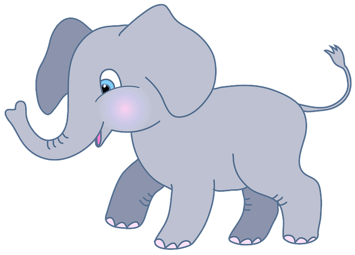 Cute elephant clipart. Free download..